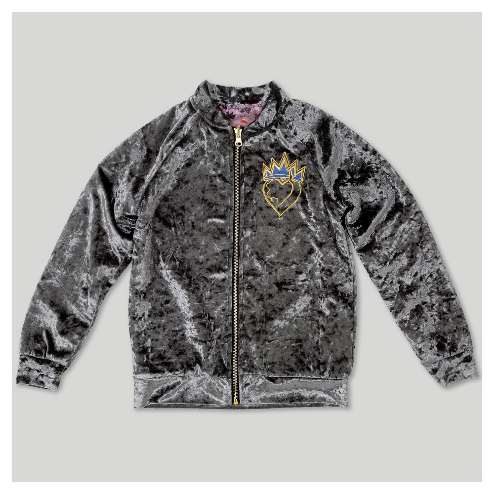 Girls' Descendants 2 Bomber Jacket - Charcoal (Grey) L