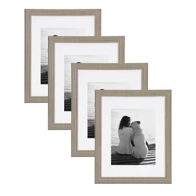 "11"" x 14"" Kieva Floated Wall Frame Gray - Kate & Laurel All Things Decor"