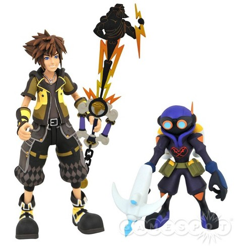 Disney Kingdom Hearts Series 4 Guardian Form Sora and Air Soldier Action Figure 2-Pack - image 1 of 1