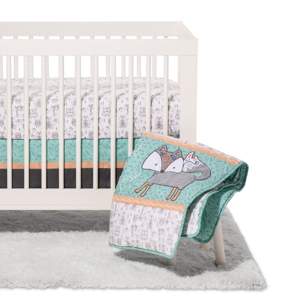 Image of Trend Lab 3pc Crib Bedding Set - Sawyer