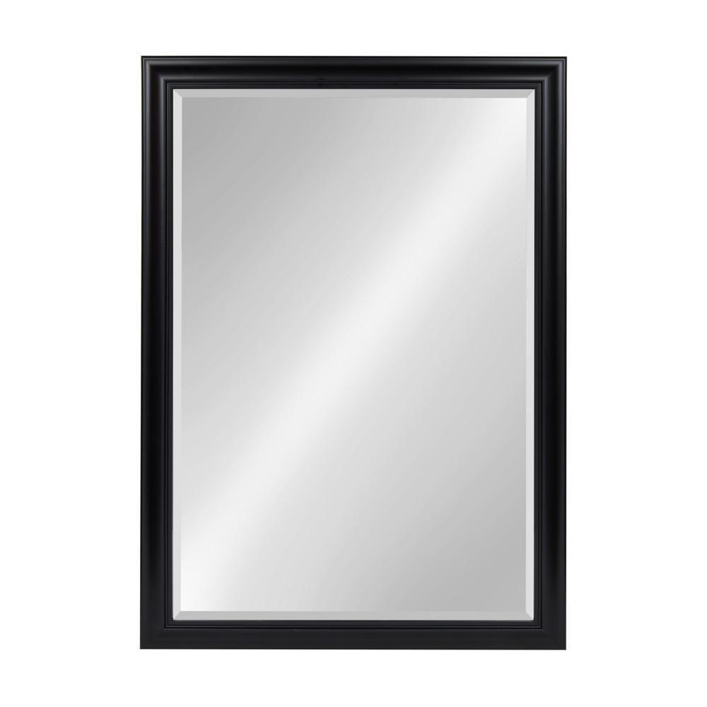 Kate & Laurel 28x40 Dalat Framed Beveled Decorative Wall Mirror Black