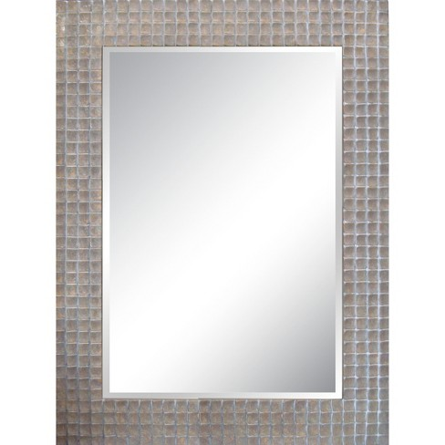 Rectangle Decorative Wall Mirror Silver - Yosemite Home Decor : Target