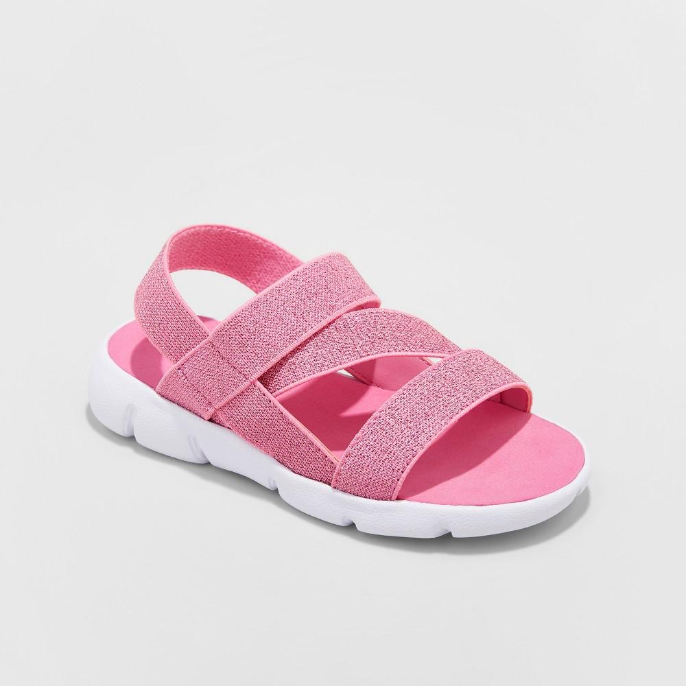 Toddler Girls' Kestra Elastic Comfort footbed Sandals - Cat & Jack Pink 10