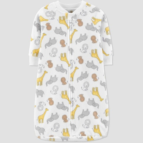 Baby Animals Sleepbag 1pc Pajama - Just One You® made by carter's White One size - image 1 of 1