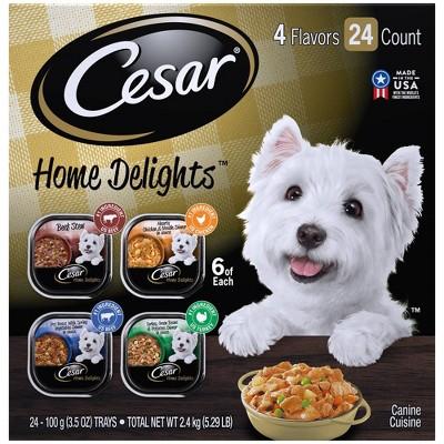 Cesar Home Delights Wet Dog Food - 3.5oz/24ct Variety Pack