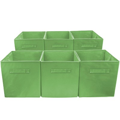 Sorbus 6 Cube Storage Box Green