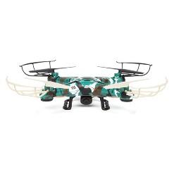 World Tech Toys Striker-X Camo 2.4GHz 4.5CH Remote Control RC HD Camera Drone