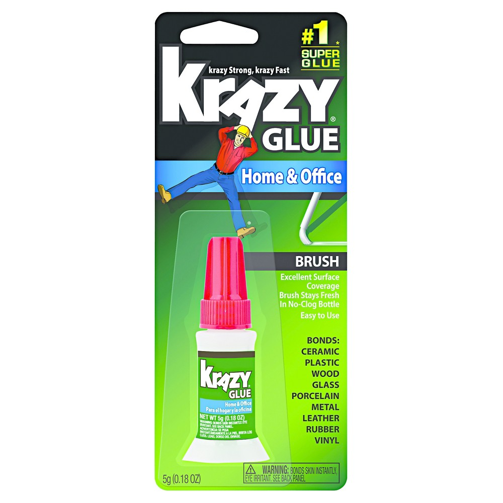Image of Krazy Glue All Purpose Brush-On Krazy Glue - 5g Clear