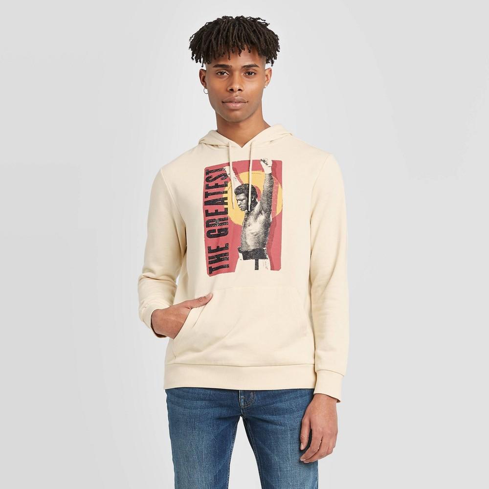 Image of Well Worn Men's The Greatest Fleece Hooded Sweatshirt - Beige 2XL, Men's