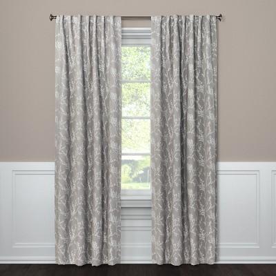 "95""x50"" Blackout Curtain Panel Edalene Gray - Threshold™"