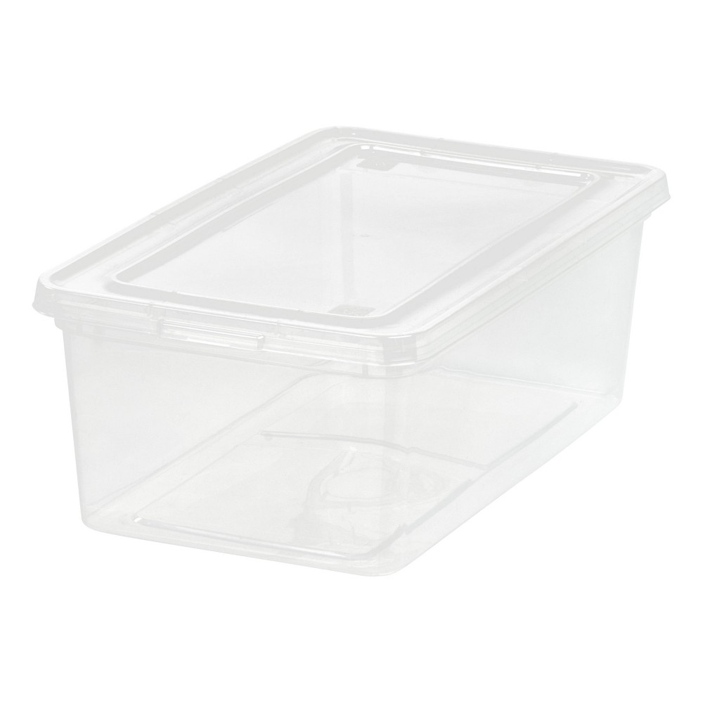 Iris 5qt Clear Storage Box - White