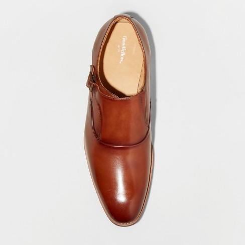 90ec26288be0 Men s Keanu Leather Monk Strap Dress Shoes - Goodfellow   Co™ Tan ...