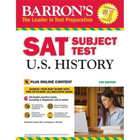 SAT Subject Test U.S. History with Online Tests - 4 Edition by  Kenneth R Senter & Eugene V Resnick - image 1 of 1