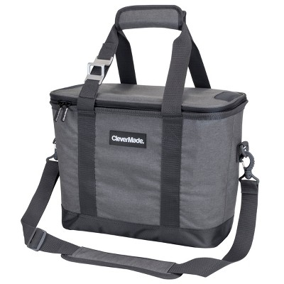 CleverMade Tahoe 30 Can Collapsible Cooler with Shoulder Strap - Gray