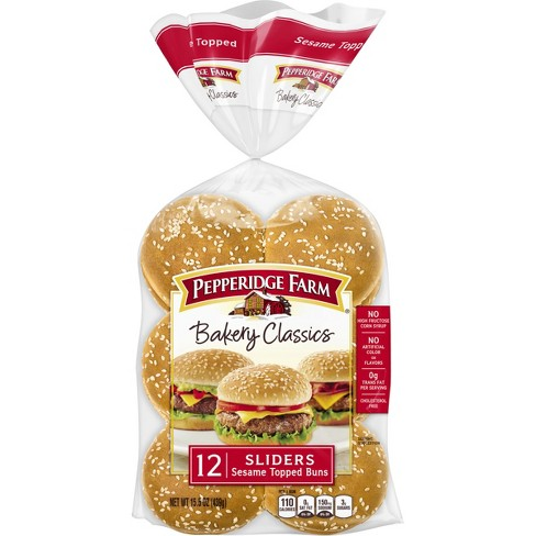 Pepperidge Farm® Bakery Classics Sesame Topped Slider Buns, 15.5oz Bag, 12pk - image 1 of 6
