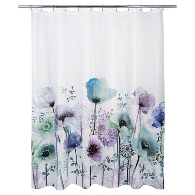 Blue Poppies Shower Curtain - Allure Home Creations