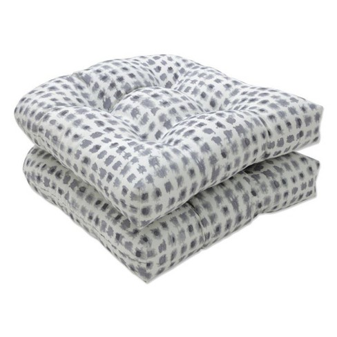 """2pc 19"""" x 19"""" Outdoor/Indoor Seat Cushion Seat Alauda Frost Gray - Pillow Perfect - image 1 of 1"""