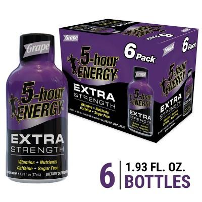 5 Hour Energy Extra Strength Shot - Grape - 6pk