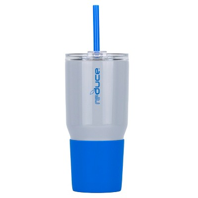 Reduce 34oz Cold 1 Stainless Steel Hydration Bottle Blue/Gray