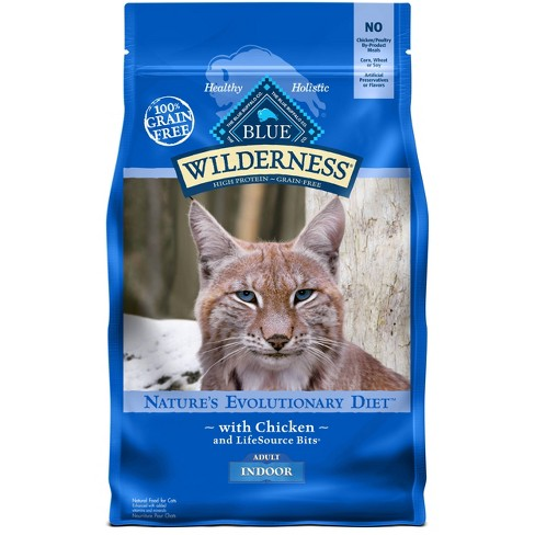Blue Buffalo Wilderness Grain Free Indoor With Chicken Adult Premium Dry Cat Food - image 1 of 4