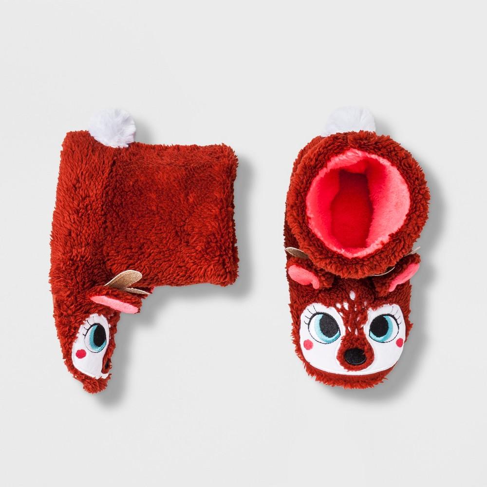 Girls' Deer Bootie Slippers - Cat & Jack Brown S(13-1)