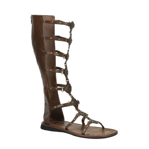 Adult Roman Costume Sandals Brown - image 1 of 1
