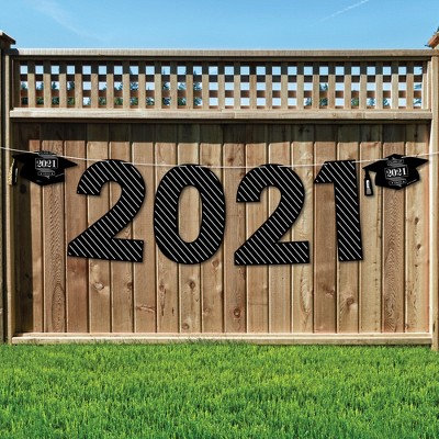 Big Dot of Happiness Graduation Cheers - Large Graduation Party Decorations - 2021 - Outdoor Letter Banner