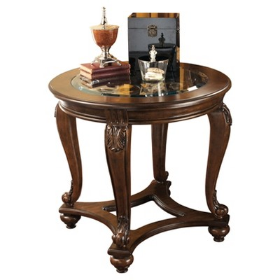 Norcastle End Table Dark Brown - Signature Design by Ashley
