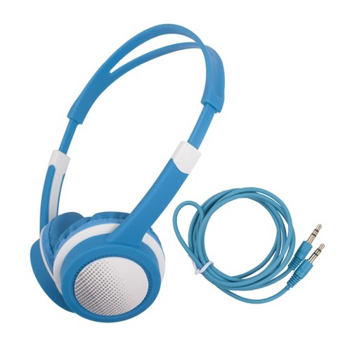 Insten Kids Headphones Wired 3.5mm On-Ear Earphones with 85dB Safe Volume Limited for Girls Boys Children, Blue - image 1 of 4