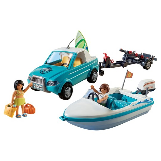 Playmobil Surfer Pickup with Speedboat Playset image number null