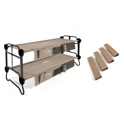 Disc-O-Bed Cam-O-Bunk Bench Double Cot w/ Organizers 7-Inch Steel Leg Extensions