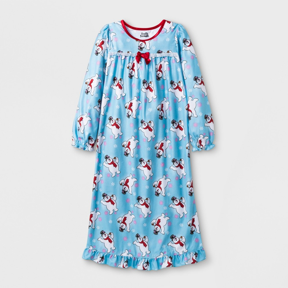 Girls' Frosty the Snowman Granny Nightgown - Blue S