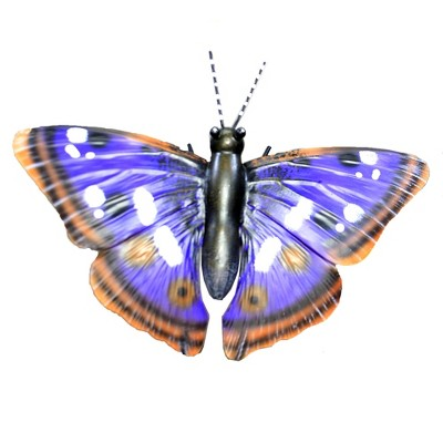 "Home & Garden 30.0"" Butterfly Purple Emperor Stake Yard Decor Regal Art & Gift  -  Decorative Garden Stakes"