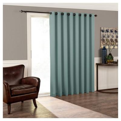 """84""""x100"""" Tricia Grommet Top Room Darkening Extra Wide Door Curtain Panel - Eclipse"""