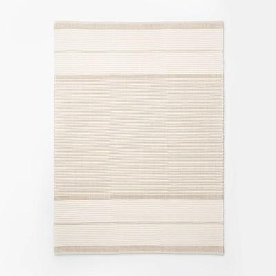 7'x10' Marina Hand Woven Striped Wool Cotton Area Rug Cream - Threshold™ designed with Studio McGee