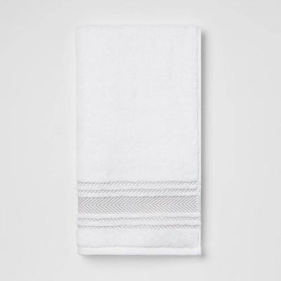 Performance Hand Towel Light Gray Stripe - Threshold™