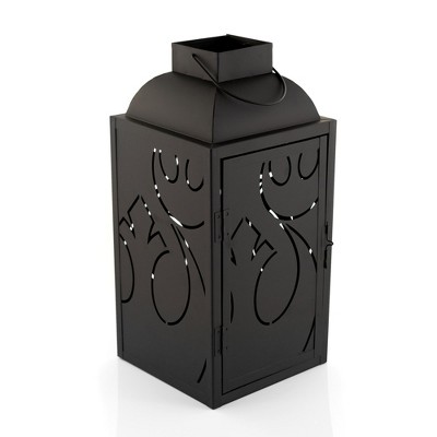 Seven20 Star Wars Black Stamped Lantern | Rebel Insignia Pattern | 14 Inches Tall