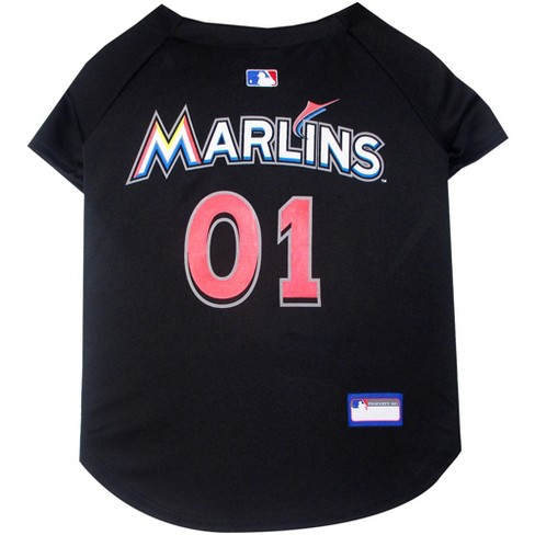 7ec8594e5bf Miami Marlins Pets First Pet Baseball Jersey - Blac   Target