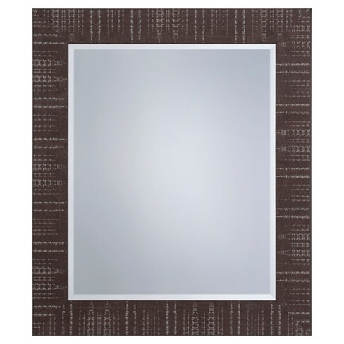 Rectangle Decorative Wall Mirror Brown - Yosemite Home Decor - image 1 of 2