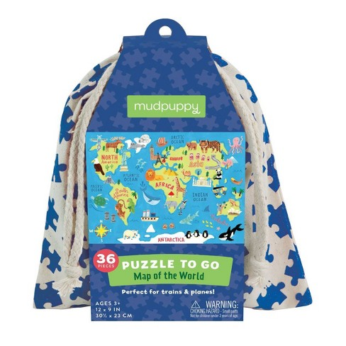 Galison Map of the World Puzzle to Go - 36pc - image 1 of 2