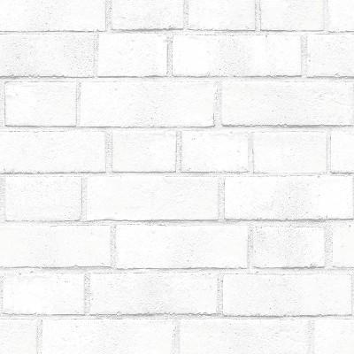 Textured Brick Peel Stick Wallpaper White Threshold Target