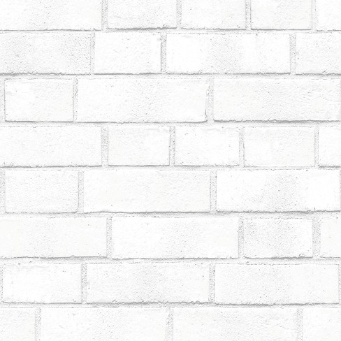 Textured Brick Peel Stick Wallpaper White Threshold Target