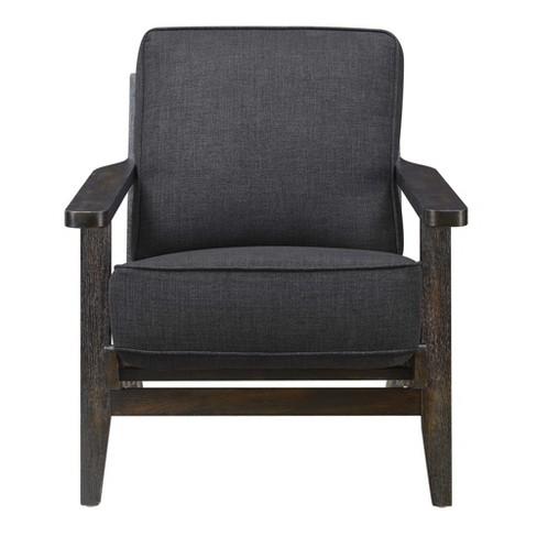 Wondrous Mercer Accent Chair With Espresso Legs Midtown Black Picket House Furnishings Machost Co Dining Chair Design Ideas Machostcouk