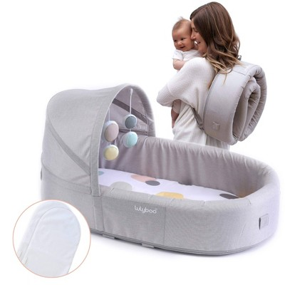 Lulyboo Bassinet To-Go Bubble Infant Travel Bed + Extra Inserts