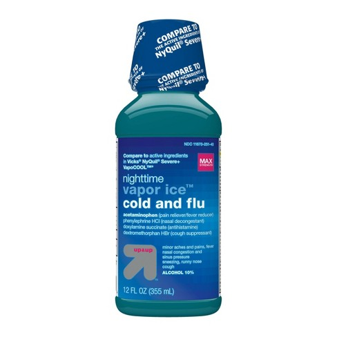 Acetaminophen Nighttime Vapour Ice Cold and Flu Relief Liquid - 12 fl oz - up & up™ - image 1 of 4