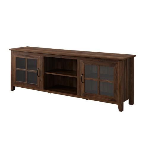 Farmhouse Wood Glass Door TV Stand - Saracina Home - image 1 of 4