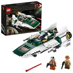 LEGO Star Wars: The Rise of Skywalker Resistance A-Wing Starfighter 75248 Advanced Collectible Starship Model Building Kit 269pc