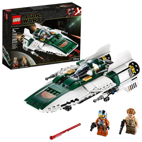 LEGO Star Wars: The Rise of Skywalker Resistance A-Wing Starfighter 75248 Advanced Collectible Starship Model Building Kit 269pc - image 1 of 4