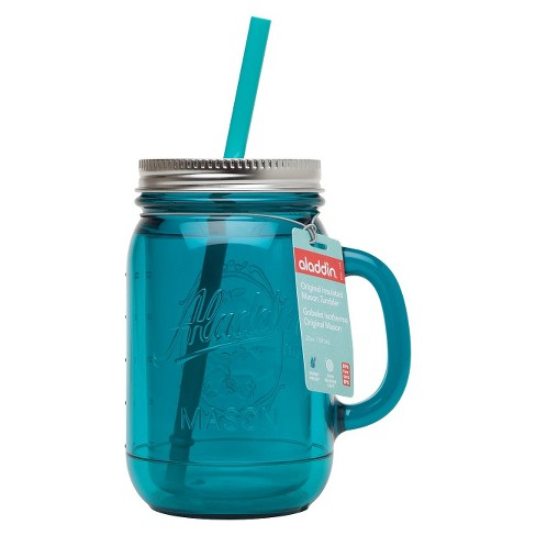 Aladdin Mason Jar Travel Mug - Patina Blue (20oz) - image 1 of 1