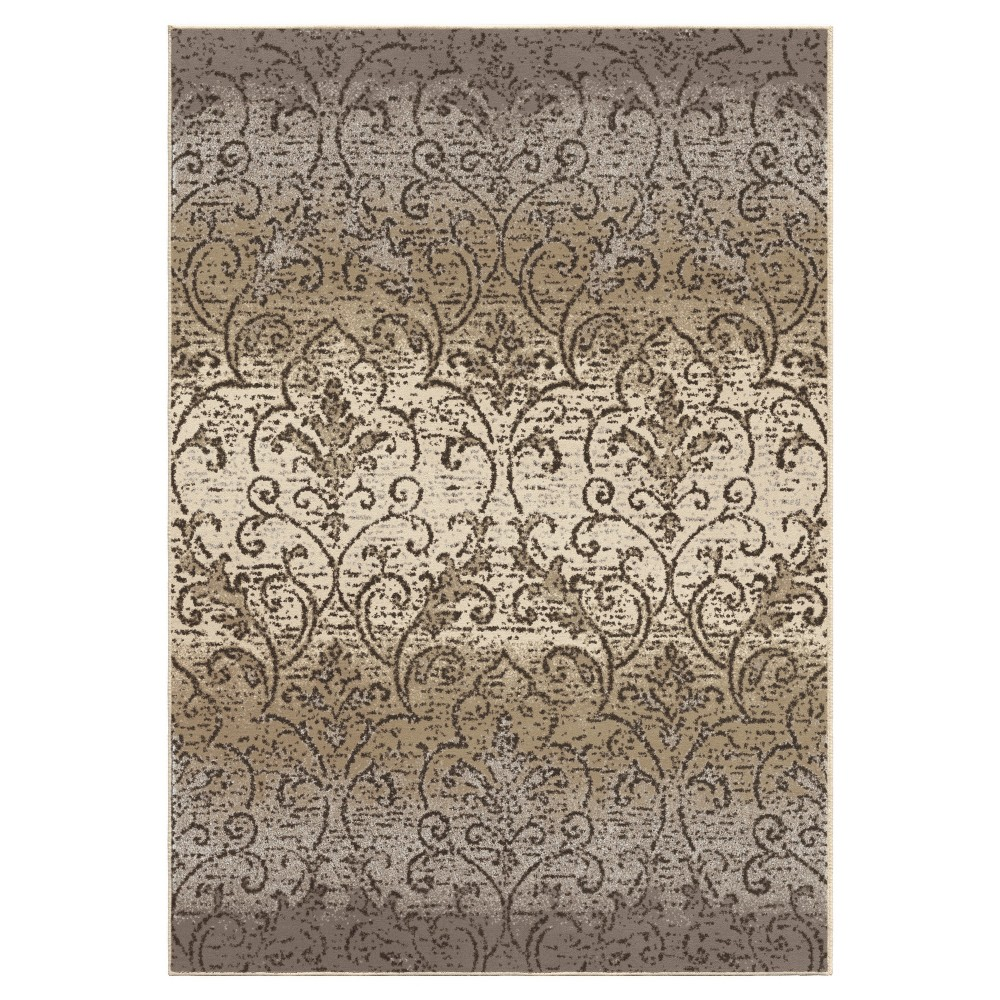 Sterling Gray Abstract Woven Area Rug - (5'3